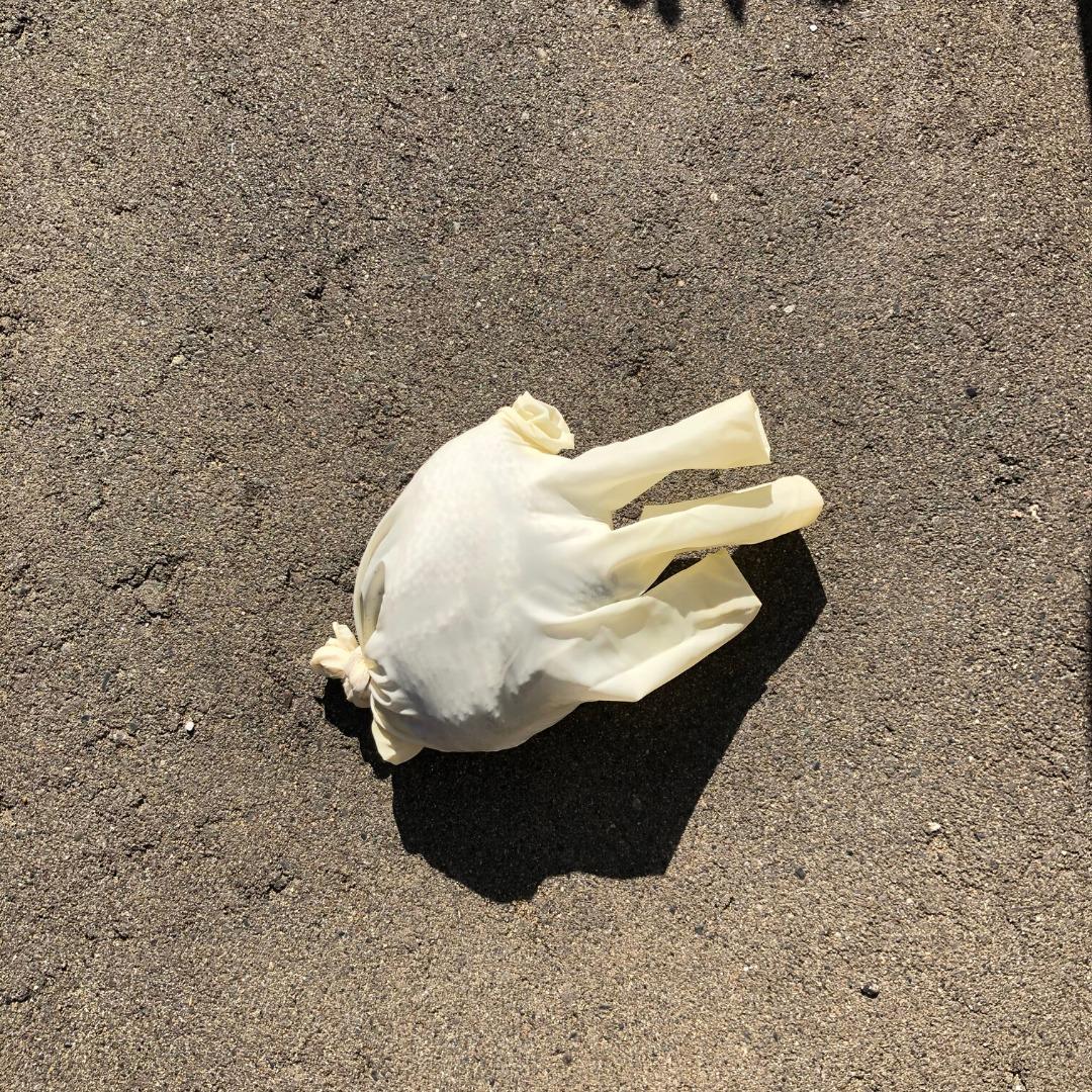 使用後の手袋