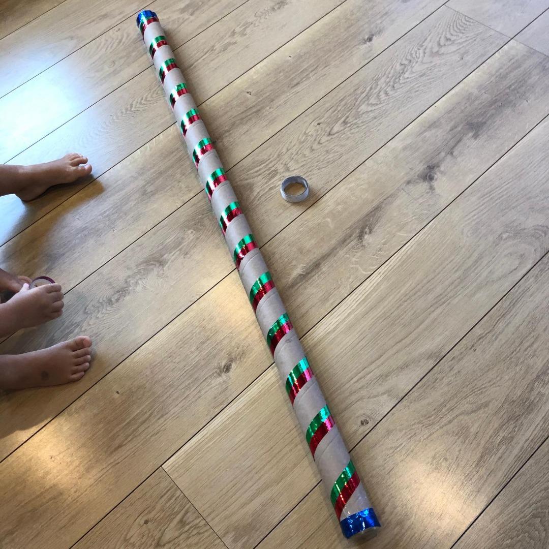 障害児の手作りおもちゃ ザーザー棒