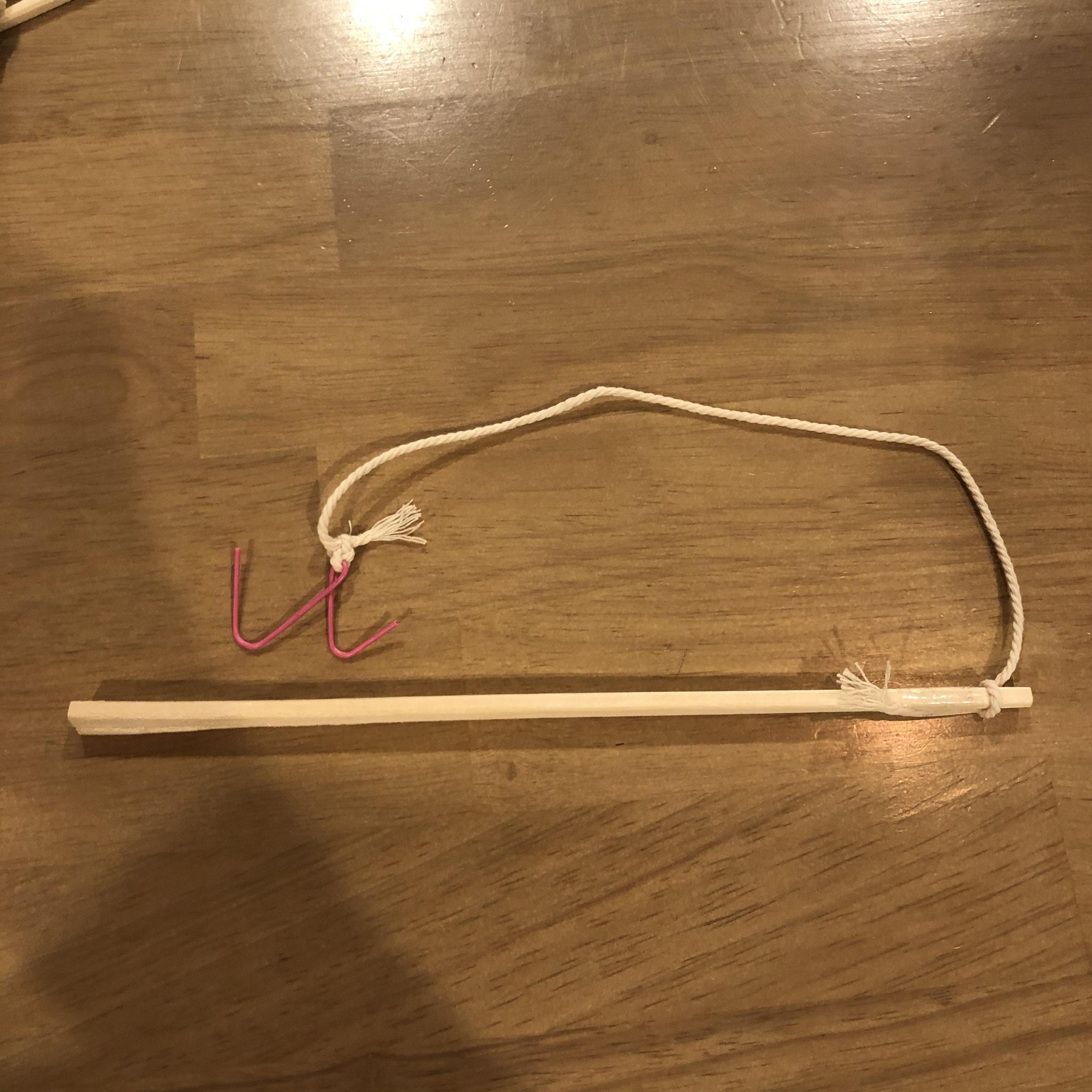 簡単釣りゲーム制作の釣竿