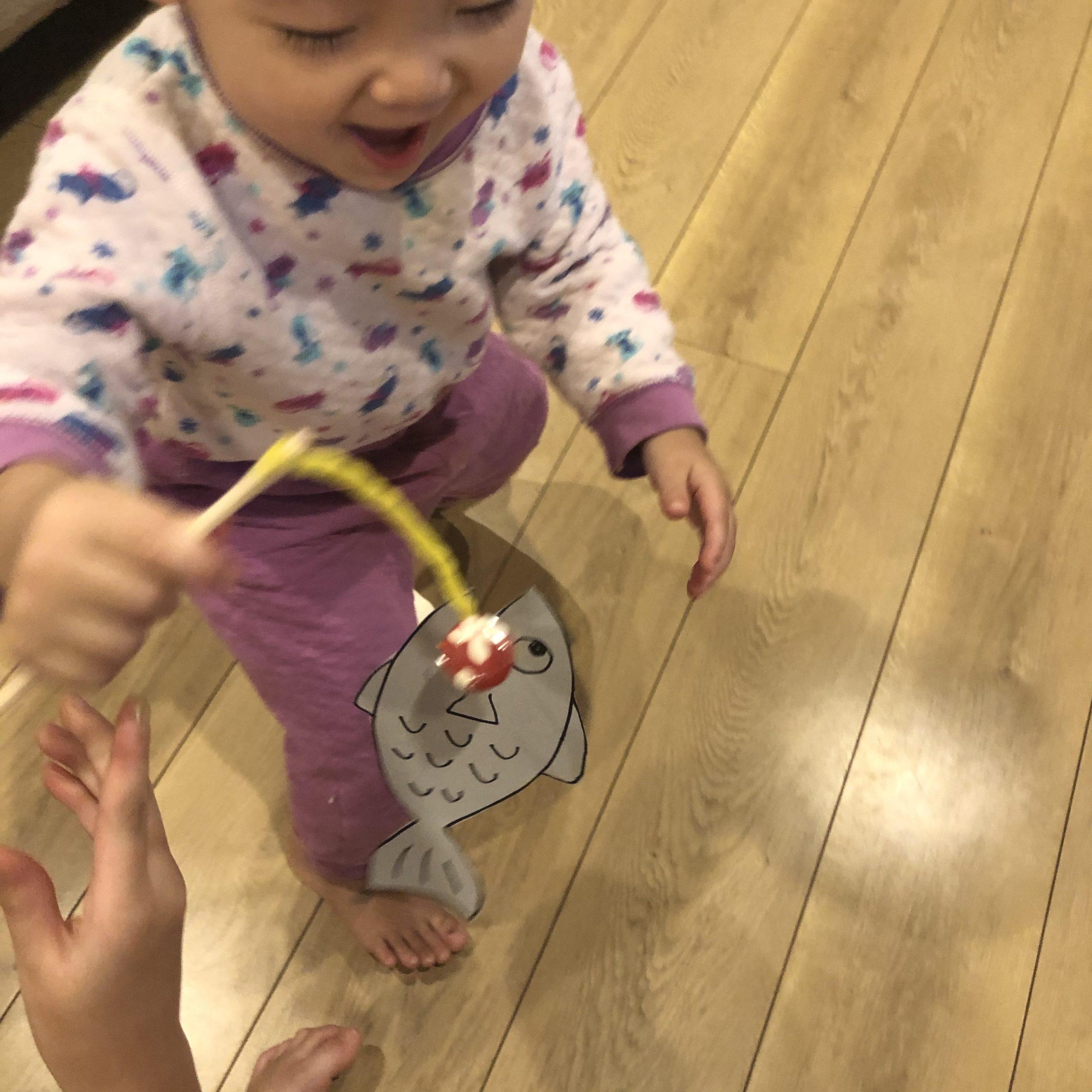 簡単釣りゲーム制作1歳児でも遊べる