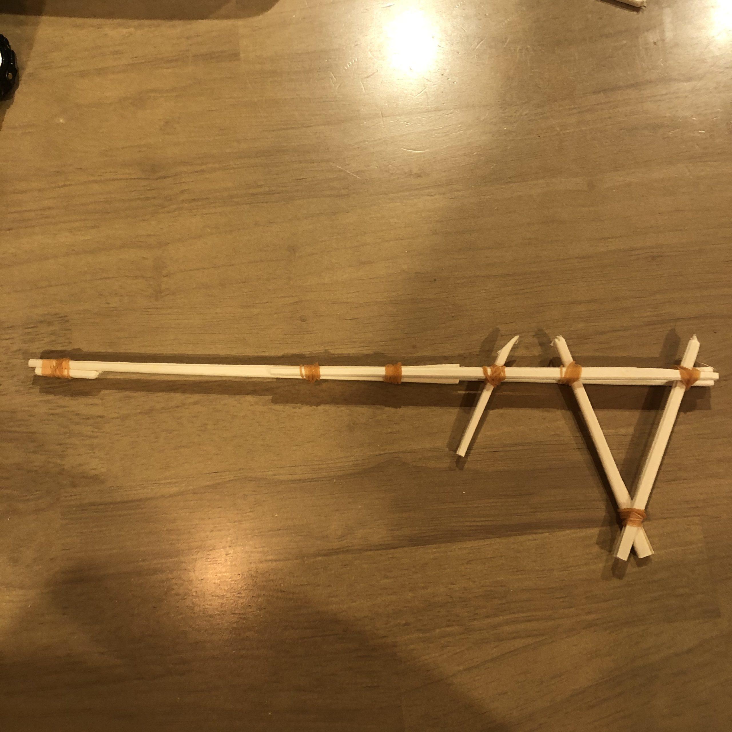 割り箸鉄砲の完成図