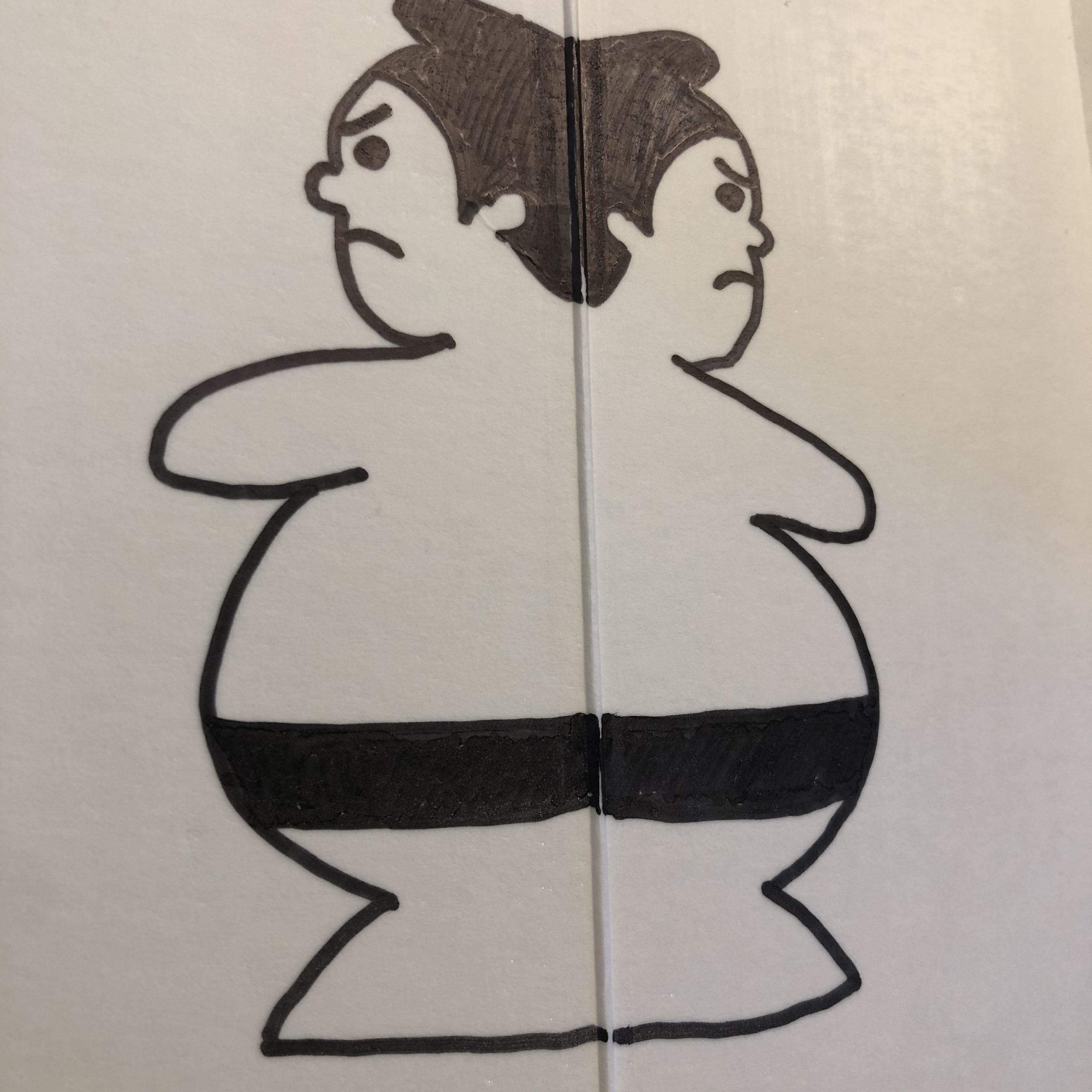 紙相撲力士
