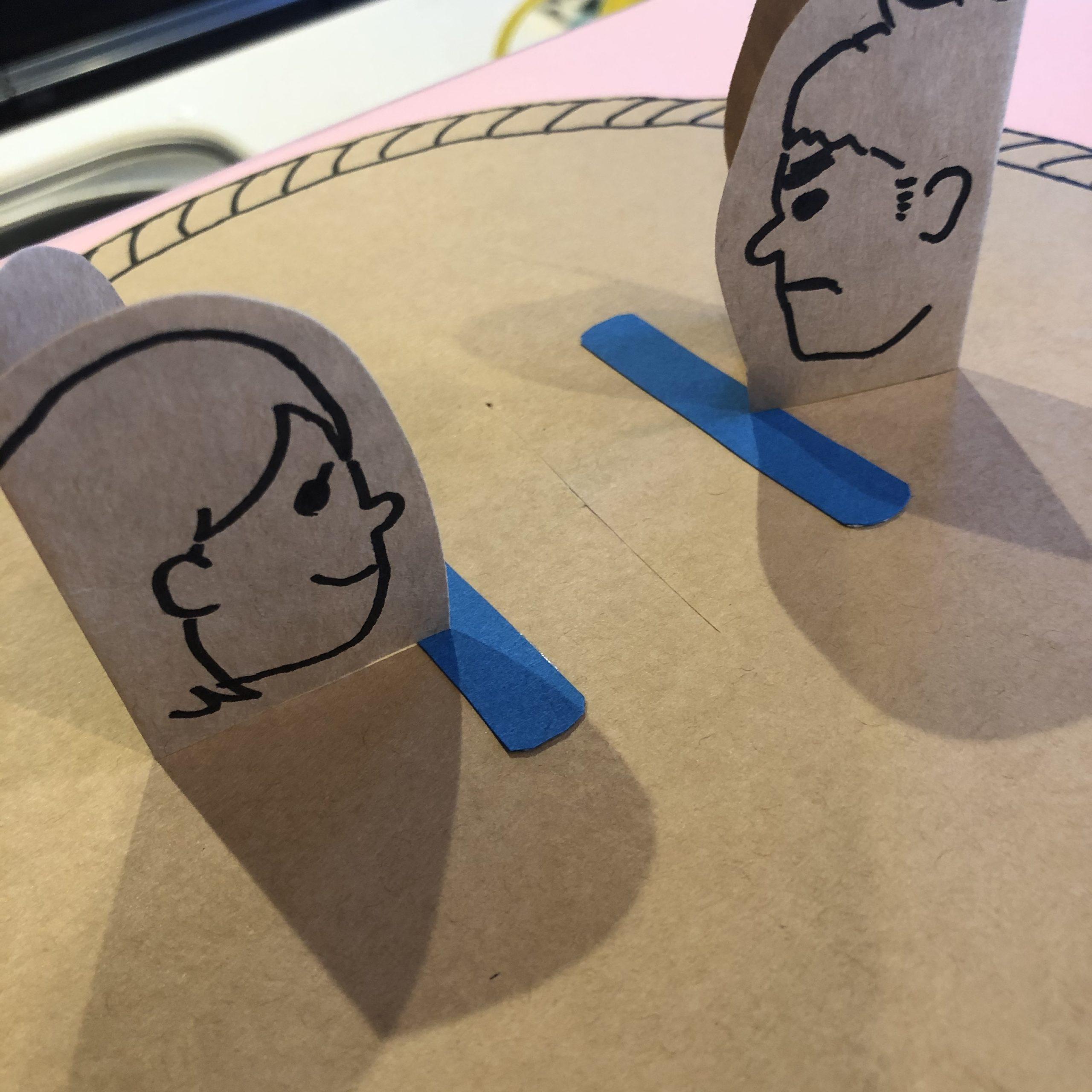 紙相撲アイデア、顔力士