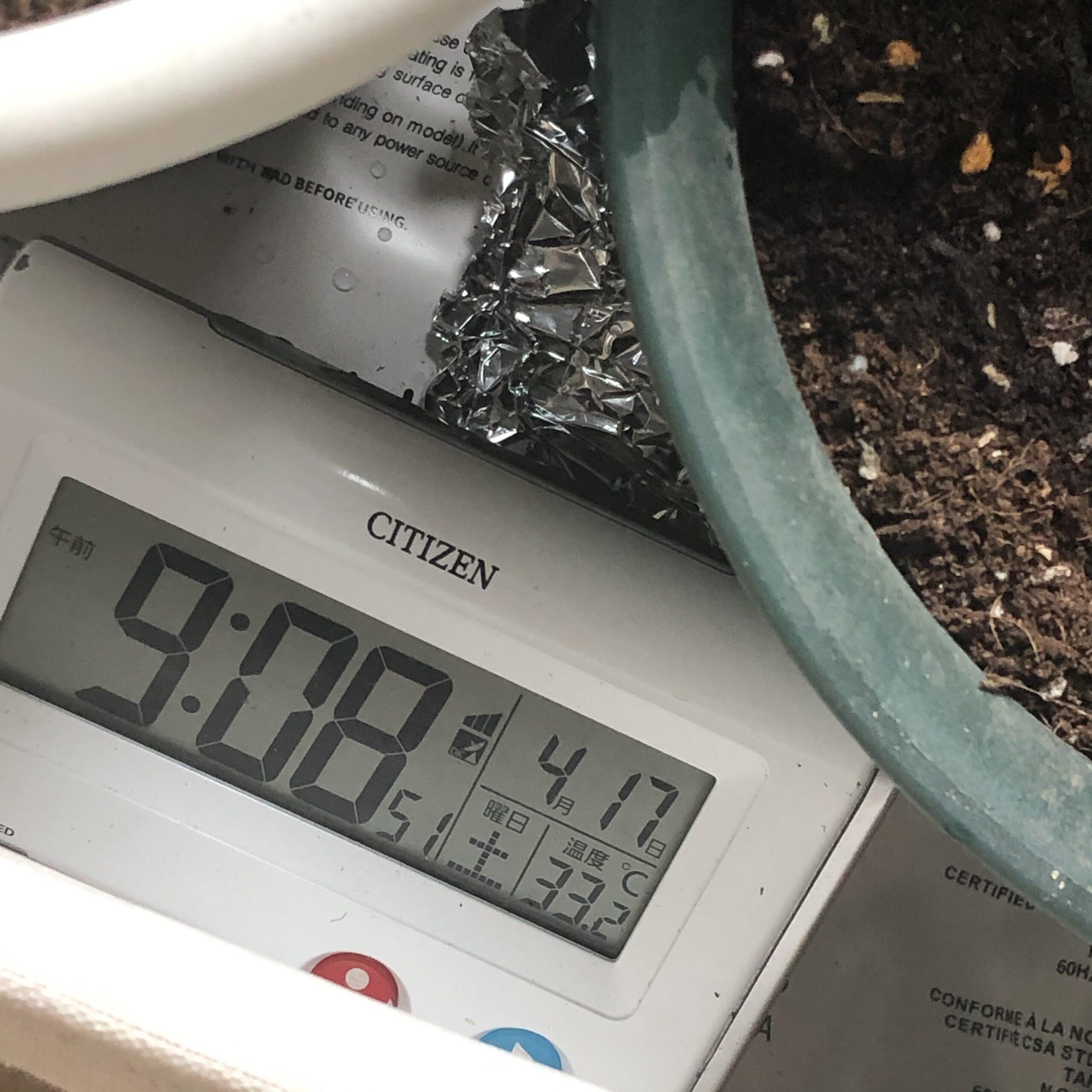 ホットマットの温度